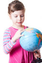 Girl holding globe Royalty Free Stock Photography