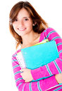 Girl holding notebooks Stock Photography