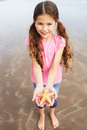 Girl Holding Starfish Found On Beach Royalty Free Stock Photo