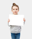 Girl Holding A White Plate On ...