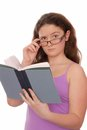 Girl holds a  book Stock Image