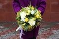 Girl Holds Flowers