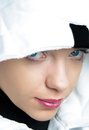 Girl with hood Royalty Free Stock Image
