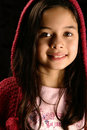 Girl with hooded jumper. Royalty Free Stock Photos