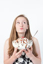 Girl With Huge Sundae