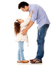 Girl hugging her father Stock Photo