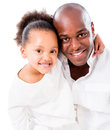 Girl hugging her father Royalty Free Stock Photo