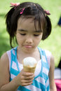 Girl with ice-cream Royalty Free Stock Image