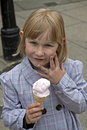 Girl with ice-cream. Stock Image
