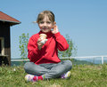 Girl with icecream Royalty Free Stock Photo