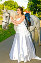 Girl iwith horse Royalty Free Stock Photo
