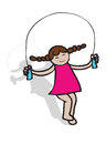 Girl jumping with rope Royalty Free Stock Photos