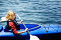 Girl in a kayak Royalty Free Stock Photo