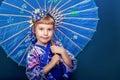 Girl in a kimono Royalty Free Stock Photo