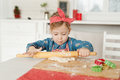 Girl in the kitchen making cookies Royalty Free Stock Photo