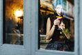 Girl lady style restaurant leisure chill cafe fun concept Royalty Free Stock Images