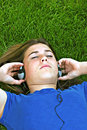 Girl Listening To Music Royalty Free Stock Image