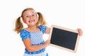 Girl with little blackboard