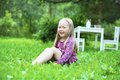 girl little outdoors smiling Стоковое Изображение