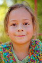 Girl little smiling Arkivfoto