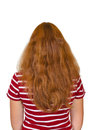 Girl with long hair Stock Photography