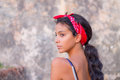 Girl looking over her shoulder Royalty Free Stock Photo