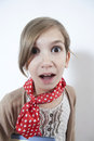 Girl making a face Royalty Free Stock Photo
