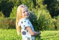 Girl with mint Royalty Free Stock Photo