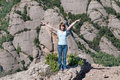 Girl in Montserrat mountain Royalty Free Stock Photo