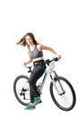 Girl with a mountainbike Royalty Free Stock Photo