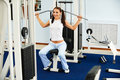 Girl on multi gym Royalty Free Stock Images