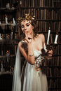 Girl muse of the poet Royalty Free Stock Photo