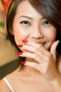 Girl and Nails Royalty Free Stock Image