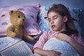 Girl is napping in the bed Royalty Free Stock Photo