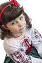 Girl in national costume six years old romanian Stock Images