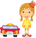 A Girl Next to Car Royalty Free Stock Photo
