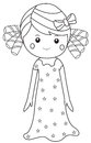 Girl in nightgown Royalty Free Stock Photo