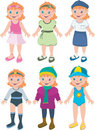 Girl outfits Royalty Free Stock Image
