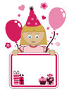 Girl party card Royalty Free Stock Images