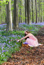 Girl picking wildflowers Royalty Free Stock Photo