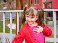 Girl with pigtails Stock Images