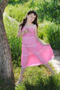 The girl in a pink dress. Royalty Free Stock Image
