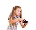 Girl playing game. Stock Images