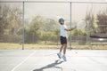 Girl playing tennis Royalty Free Stock Photo