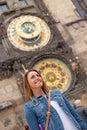 Girl in Prague Royalty Free Stock Photo