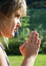 Girl in Prayer Royalty Free Stock Photo