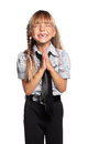 Girl praying Royalty Free Stock Photo
