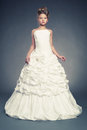 Girl princess in white ball gown Royalty Free Stock Photos