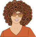 Girl with psychedelic african curls Royalty Free Stock Photo
