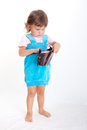 Girl with purse Stock Photo